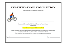 Certificate of completion sample page 1 preview