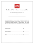 Career development plan form (Delaware) page 1 preview