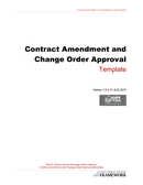 Contract amendment and change order approval template page 1 preview