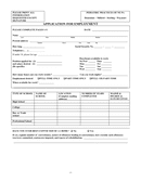 Sample employment application form page 1 preview