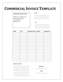 Commercial Invoice Template