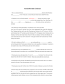 Parent/provider contract page 1 preview