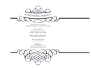Wedding menu template page 1 preview