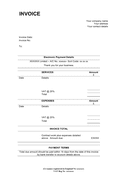 Invoice template (UK) page 1 preview