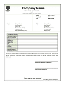 Consulting invoice template page 1 preview