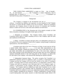 Consulting agreement template page 1 preview