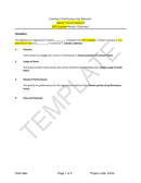 Contract template for consulting services page 1 preview
