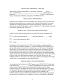 Short term consulting agreement template page 1 preview