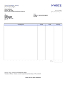Sample invoice template page 1 preview