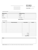 Minimalist invoice template page 1 preview