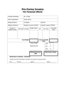 Pro Forma Invoice For Personal effects (GB) page 1