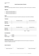Project proposal template page 1 preview