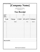 Sales receipt template page 1 preview