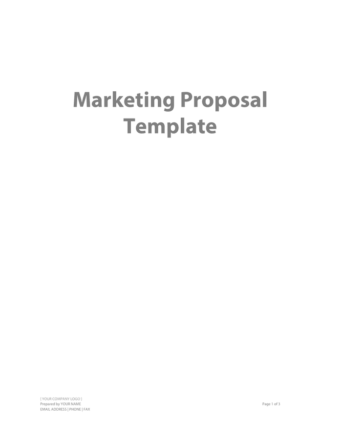 Marketing Proposal Template preview