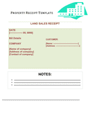 Land sales receipt template page 1 preview