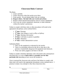 Classroom rules contract page 1 preview