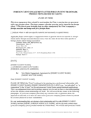 Foreign client engagement letter for us patent / trademark prosecutions page 1 preview