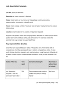 Job description template page 1 preview