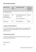 Job description template page 2 preview