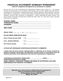 Financial statement summary worksheet page 1 preview