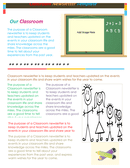 Classroom newsletter template page 1 preview