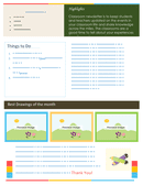 Classroom newsletter template page 2 preview