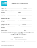 College emergency contact form page 1 preview