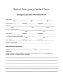 Patient Emergency Contact Form page 1 preview