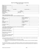 Short term mission trip emergency consent form page 1 preview