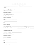 Sample of emergency contact form page 1 preview