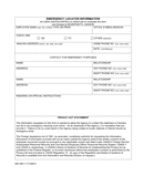 Emergency locator information form page 1 preview