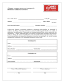 Household emergency contact form page 1 preview