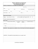 Student application for employment template page 1 preview