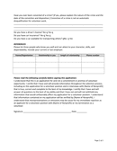 Sample volunteer application template page 2 preview