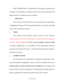 Construction contract template page 2 preview