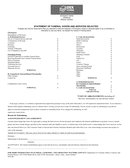 Funeral billing statement template page 1 preview