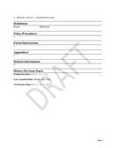 University policies and procedures template page 2 preview