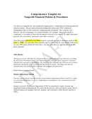 Nonprofit financial policies & procedures template page 1 preview