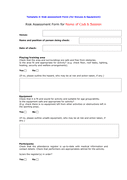 Risk assessment form for venues & equipment page 1 preview