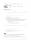 Social media strategy template page 1 preview