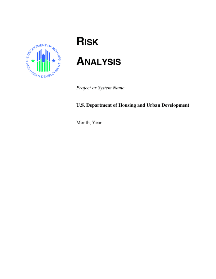 Risk Analysis Template preview