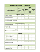 Marketing audit template page 1 preview