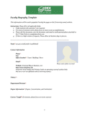 Faculty biography template page 1 preview