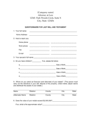 Questionnaire for last will and testament template page 1 preview