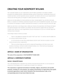 Nonprofits bylaws template page 1 preview