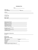 Parent interview/ application form page 1 preview