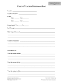 Parent Contact Log Template