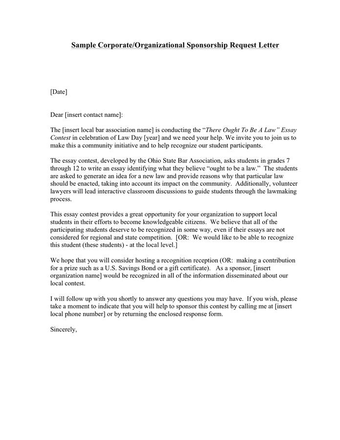 Sample Letter Requesting Sponsorship from static.dexform.com