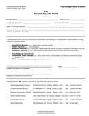 Record Release Form page 1 preview