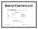 Birth certificate template page 1 preview